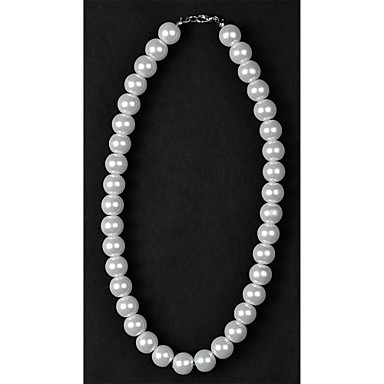 Women's Pearl Beaded Necklace Pearl Necklace Ladies Pearl Imitation Pearl Silver / Black Ivory Necklace Jewelry For Wedding Daily Casual