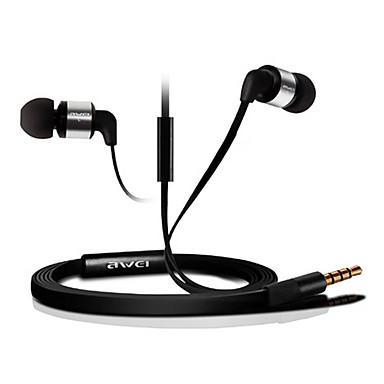 Mobilephone/PC/MP3 için Mic ile ES600i-awei Super Bass Kulak Kulaklık