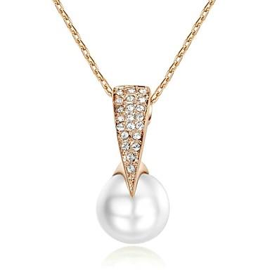 Mücevher Uçlu Kolyeler Düğün / Parti / Günlük Altın Kaplama Kadın Altın Düğün Hediyeleri
