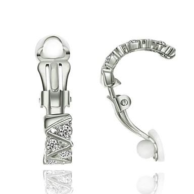 Pentru femei Cristal Cercei cu Clip - Cristal Placat Auriu Modă Bijuterii Pentru Nuntă Petrecere Zilnic Casual