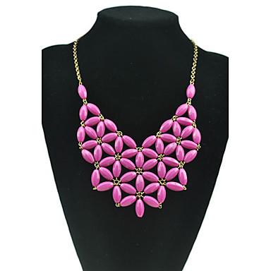 Ожерелья с подвесками - Резина Цветы Желтый, Зеленый, Синий Ожерелье 1шт Назначение Для вечеринок, Повседневные