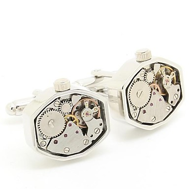 Beour Drehbewegung achteckige Form Manschettenknöpfe Uhrwerk Manschettenknöpfe (mit Geschenk-Tasche)