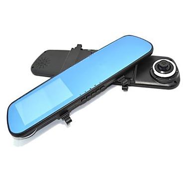 رخيصةأون المنبهات  و الامان-مرايا السيارة DVR كاميرا مزدوجة العدسة 4.3 بوصة وشاشة 140 درجة G-استشعار الحركة كشف ليلة Vison