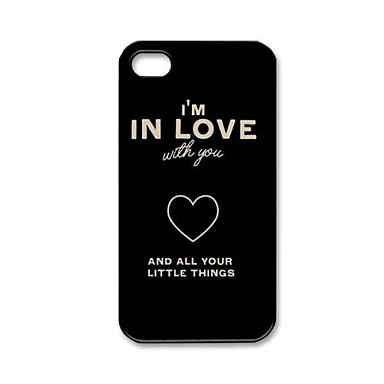 One Direction Quotes Pattern Plastic Hard Case for iPhone 4/4S