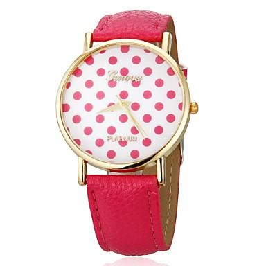 Women's Quartz Wrist Watch Casual Watch PU Band Dot Fashion Black White Blue Red Brown Green Yellow Rose