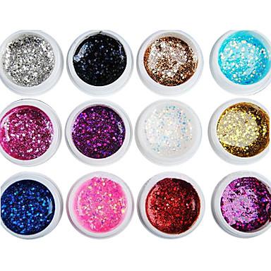 폴란드어 UV 젤 네일 0.008 12 반짝이 UV 색 젤 클래식 오래 지속 오프 만끽 일상 반짝이 UV 색 젤 클래식 고품질