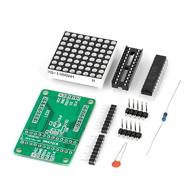 diy max7219 kırmızı (Arduino için), dot matrix ekran modülü led (resmi (arduino için) kurulları ile çalışır)
