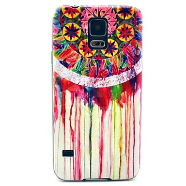 Samsung Galaxy S5 I9600 Rainbow Dream Catcher Desen Hard Case Kapak Diamond Şekli Olgu