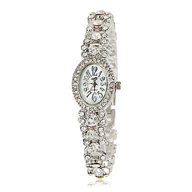 Bayanların Moda Saat Bilek Saati Bilezik Saat Japonca Quartz Bant Gümüş Altın Rengi Altın Gümüş