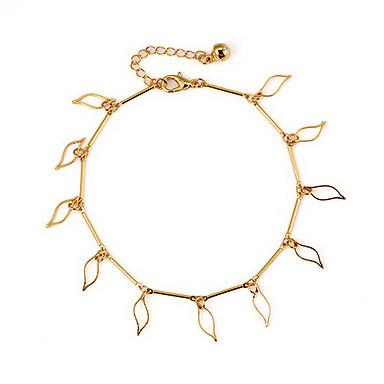Pentru femei Brățară Gleznă / Brățări Aliaj Gol Brățară Gleznă Corp lanț / burtă lanț Leaf Shape Bijuterii Pentru Zilnic Casual