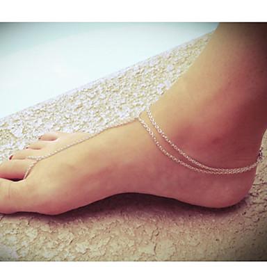Ayak bileziği / Bilezikler alaşım Avrupa Ayak bileziği Mücevher Uyumluluk Parti Günlük