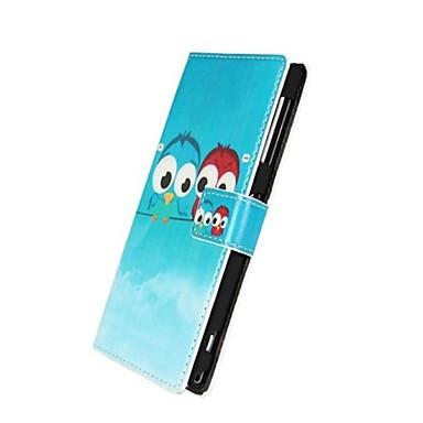 PU piele Owl model de model de caz pentru Sony Xperia Z1 L39H
