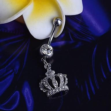 Göbek Halkası / Göbek Piercing - Paslanmaz Çelik Kadın's Gümüş Vücut Mücevheri Uyumluluk Yılbaşı Hediyeleri / Günlük