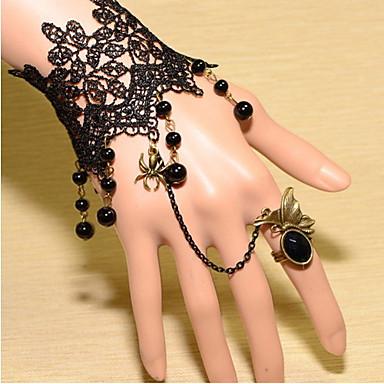 Dames Kant Ringarmbanden Vintage Armbanden Wikkelarmbanden - Vintage Victoriaans Bohemen Zwart Armbanden Voor Dagelijks Causaal