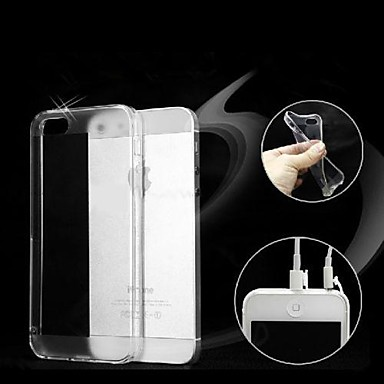 TPU Soft Transparent Dust Proof Case for iPhone 5/5S iPhone Cases