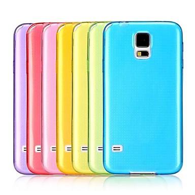 Pentru Samsung Galaxy Carcasă Carcase Huse Ultra subțire Transparent Carcasă Spate Maska Culoare solidă TPU pentru Samsung S5