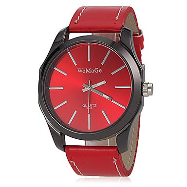 Kadın's Moda Saat Bilek Saati Quartz Bant Siyah Beyaz Kırmızı Kahverengi