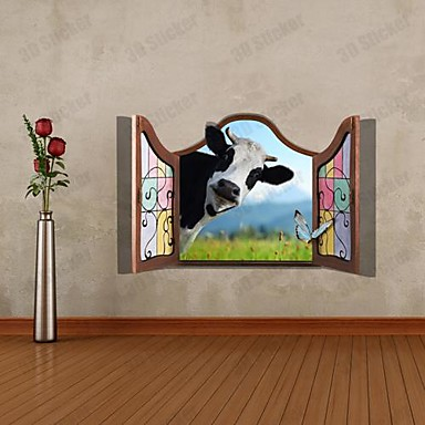 3d perete de vacă autocolante perete decalcomanii 1pc