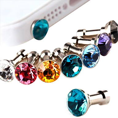 Joyland Diamond Anti-Dust Earphone Jack (Random Color) DIY for iPhone 8 7 Samsung Galaxy s8 s7