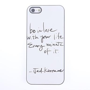 IPhone 5/5S için Life Design Alüminyum Hard Case With Love Be