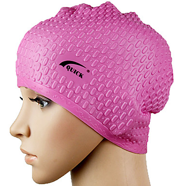 Unisex Waterproof Pure Color Silicone Swimming Cap