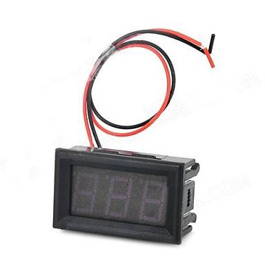 HZDZ 3 Haneli Kırmızı LED Dijital Voltaj Göstergesi (DC 4.5V ~ 30.0V)