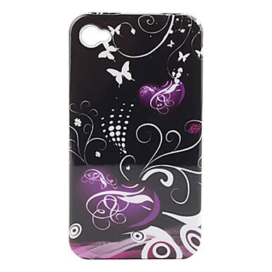 защитные гладкие поликарбоната передней и задней случае для iphone 4 и 4S iphone (Purple Heart)