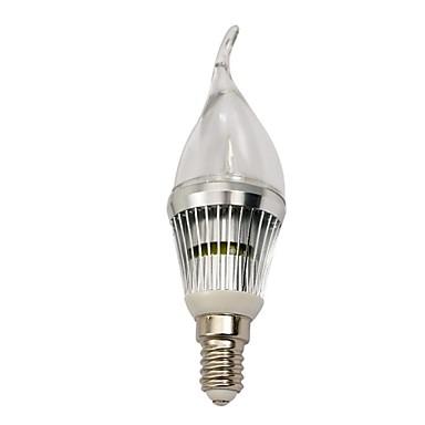 210-240 lm E14 LED Mum Işıklar 3 led Yüksek Güçlü LED Kısılabilir Serin Beyaz AC 220-240V