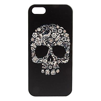 Coque pour iPhone 5/5S, Motif Crâne à Fleurs