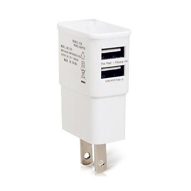מטען לבית / מטען נייד מטען USB מחבר US מרובה חיבורים 2חיבוריUSB 1 A ל
