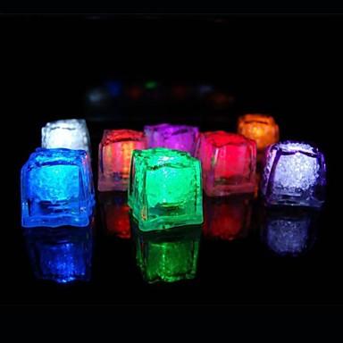 36pcs Renk değiştirme Buz Küpleri LED ışık Parti Düğün Noel Bar Restaurant