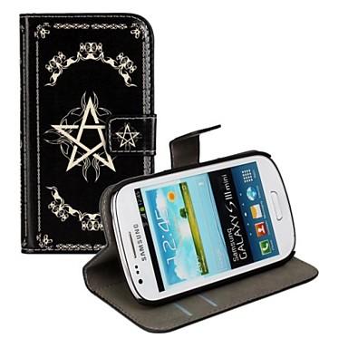 magie vrăji piele PU caz corp plin cu suport și slot pentru card pentru Samsung Galaxy S3 mini i8190