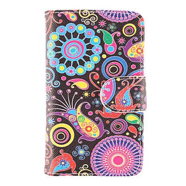 Için Samsung Galaxy Kılıf Cüzdan / Kart Tutucu / Satandlı / Flip / Temalı Pouzdro Tam Kaplama Pouzdro Çiçek PU Deri Samsung Trend Duos