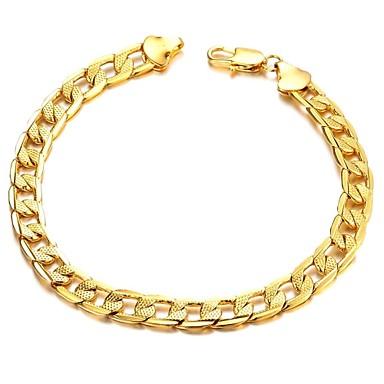 Moda Klasik Bakır Kaplama Erkekler 18 K Altın Bilezik