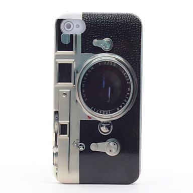 Retro Camera Pattern Mirror Hard Case for iPhone 4/4S iPhone Cases