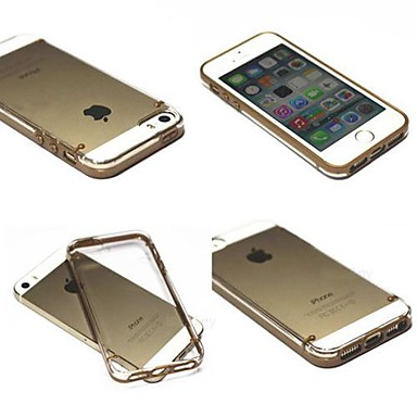 Gold Crystal Clear Cover Hard Case for iPhone 5/5S