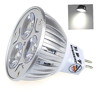 1 buc 3 W Spoturi LED 200lm MR16 3 LED-uri de margele LED Putere Mare Decorativ Alb Cald Alb Rece Alb Natural 12 V