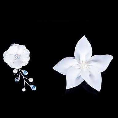 Κρύσταλλο Ύφασμα Σατέν Τιάρες Λουλούδια 1 Γάμου Ειδική Περίσταση Πάρτι / Βράδυ Headpiece