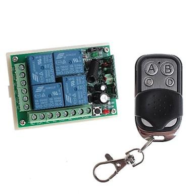 리모트 컨트롤러와 12V 4 채널 무선 원격 전원 릴레이 모듈 (DC28V-AC250V)