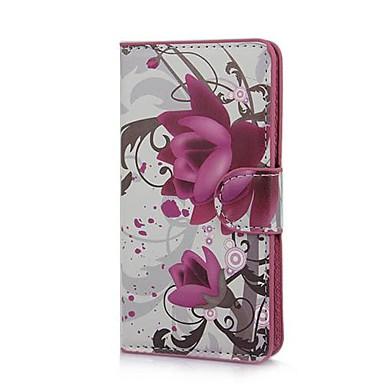 Elegant violet floare de model PU Geantă din piele cu stand și slot pentru card pentru Sony Xperia M C1905