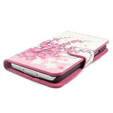 Pouzdro Uyumluluk Samsung Galaxy Samsung Galaxy Kılıf Kart Tutucu / Satandlı / Flip Tam Kaplama Kılıf Çiçek PU Deri için S5 Mini