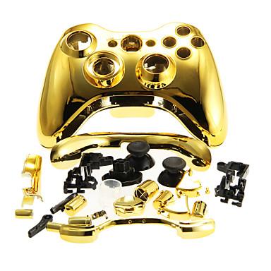 Xbox 360 kablosuz kumanda altın için yedek konut kasayı