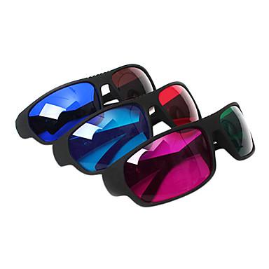tv bilgisayar (4 adet) için reedoon kırmızı, mavi / yeşil / kırmızı, mavi, kahverengi 3d gözlük