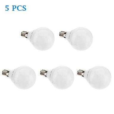 480lm E14 G5 LED Küre Ampuller G45 32 LED Boncuklar SMD 3022 Sıcak Beyaz 220-240V