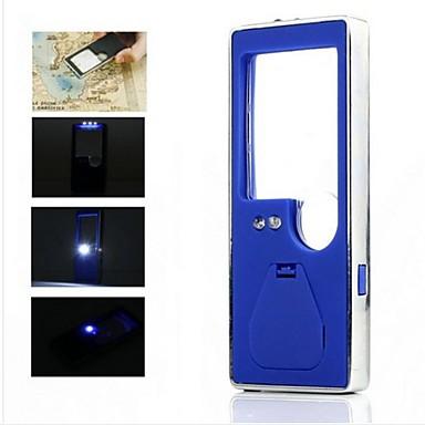 taşınabilir 3 beyaz led ve 1 mavi bir tükenmez kalem ile hafif 6x büyüteç led (3 * LR1130)