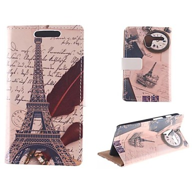 The Eiffel Tower Design Postcard Mode PU Full Body Case with Card Slot for Motorola MOTO X