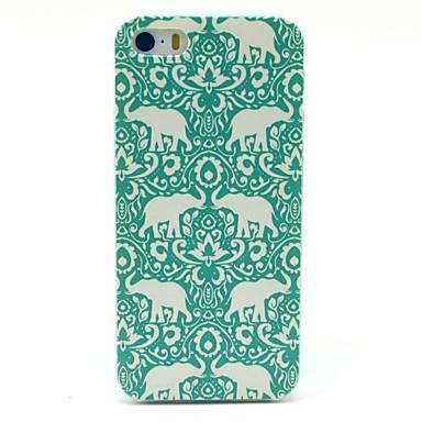 아이폰 5/5S를위한 꽃 코끼리 카펫 패턴 하드 케이스