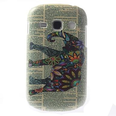 scutire proiectat model elefant colorat pc caz greu pentru Samsung Galaxy 6810