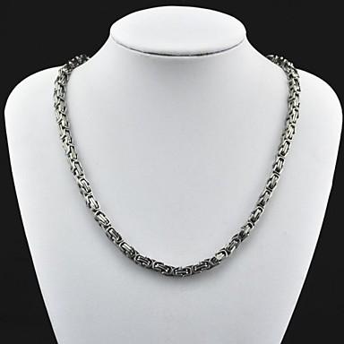 Toonykelly ® Colier din oțel inoxidabil de argint antic de moda pentru bărbați (1 buc)