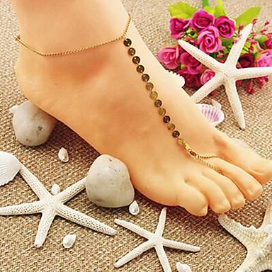 Pentru femei Brățară Gleznă / Brățări Aliaj Modă Brățară Gleznă Sandale Desculț Bijuterii Pentru Zilnic Casual